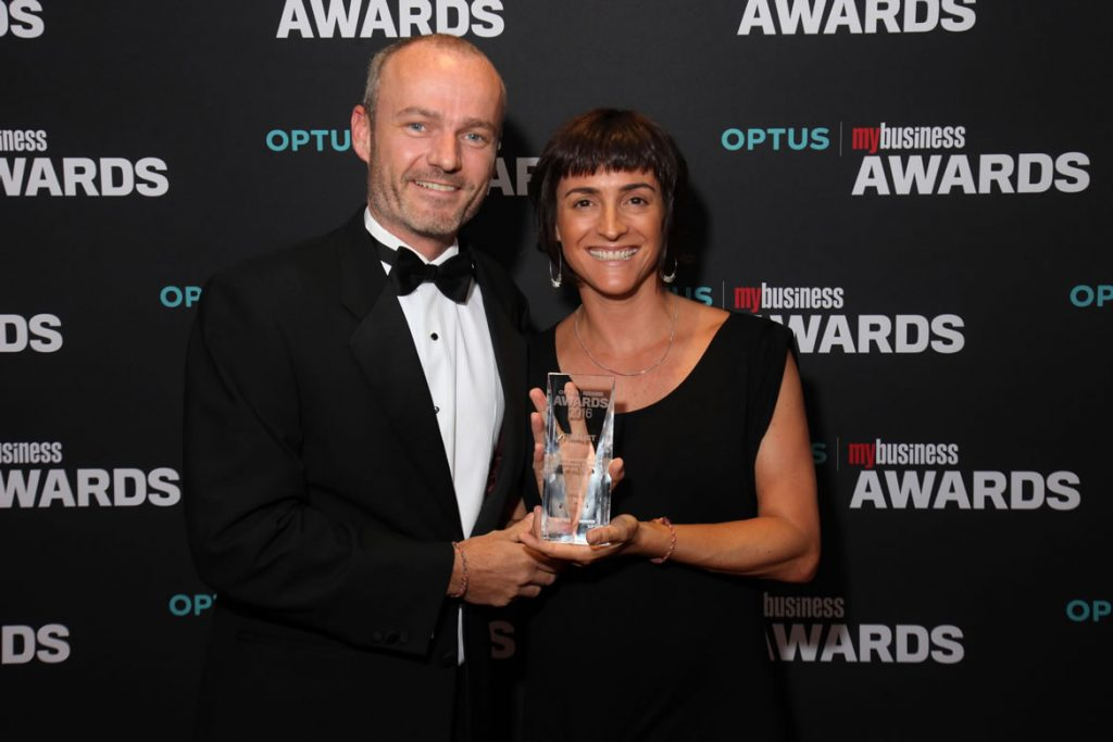 Claire-Evan-Optus-Awards-2016
