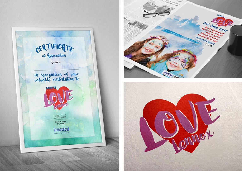 love lennox poster logo