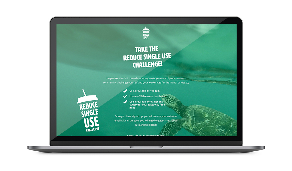 Reduce Single Use landing Page