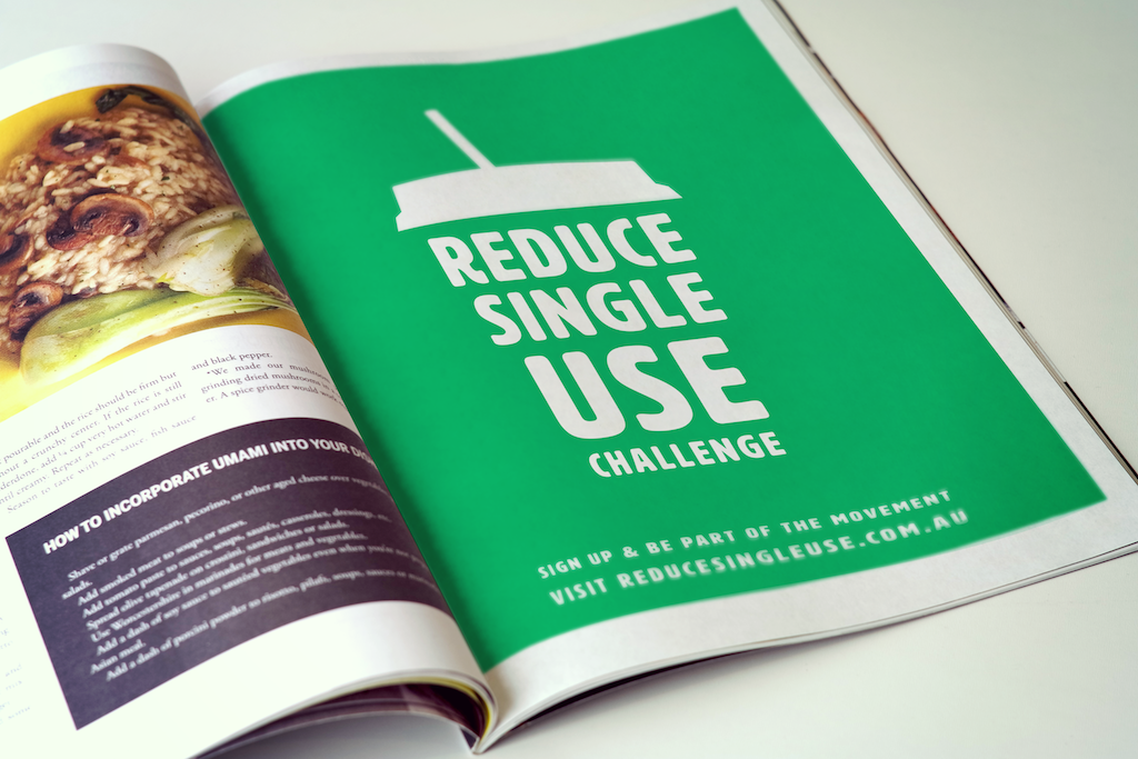 Reduce Single Use Print Advertisement