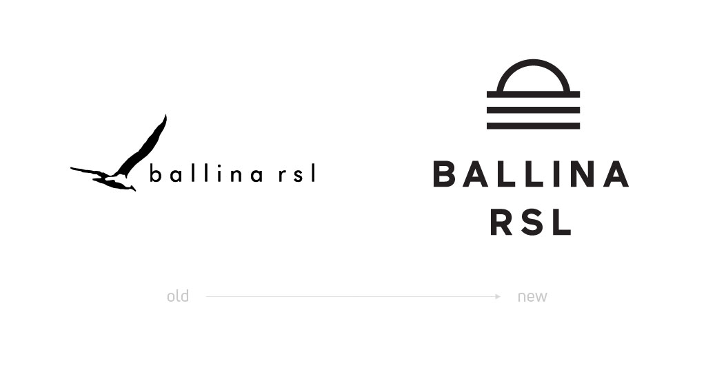 Ballina RSL Logo Before and After