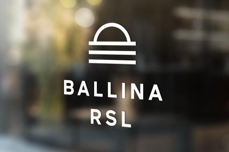 Ballina RSL Logo White