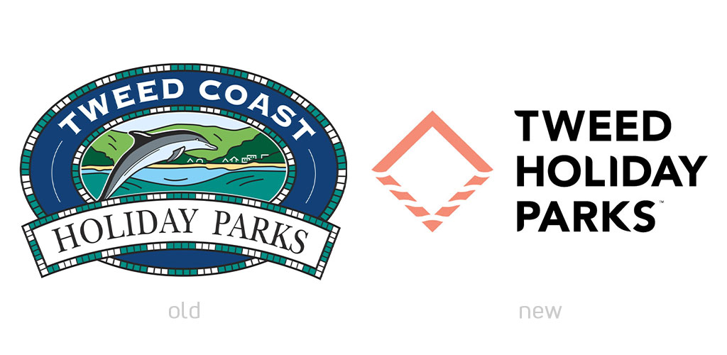 Tweed Holiday Parks Logo Evolution