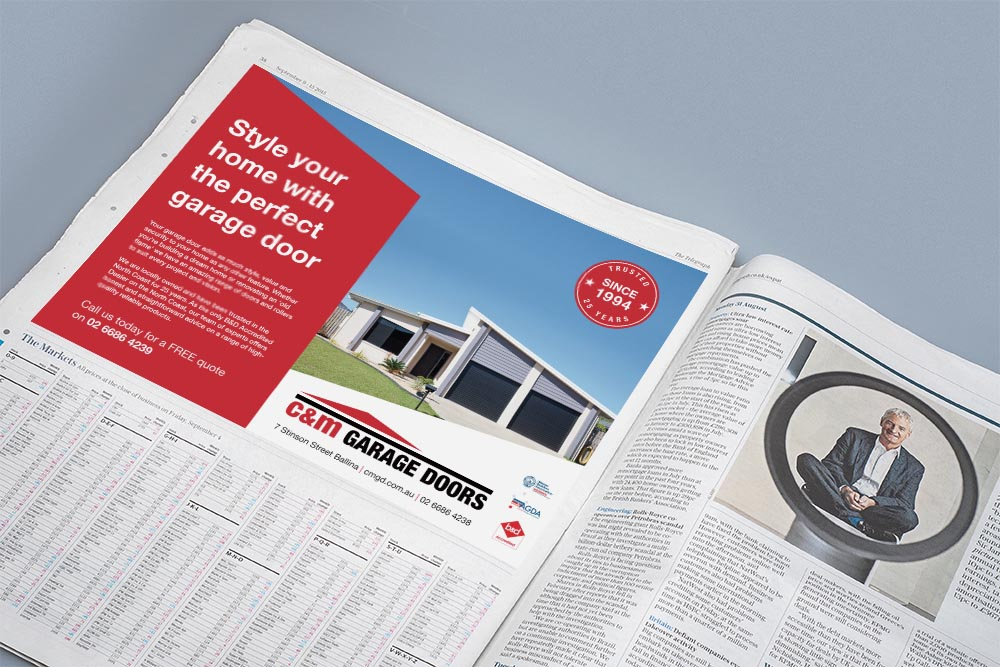 advertising agency northern rivers - C&M newspaper mock up