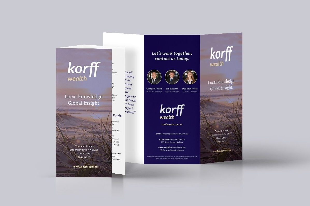 Korff Mock Up Rebrand - marketing consultants ballina