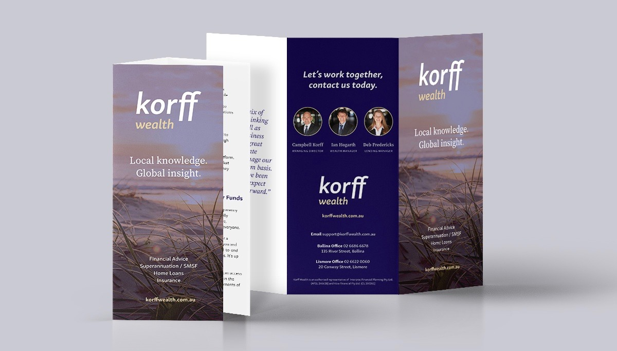 Korff Wealth Brochure for Rebrand