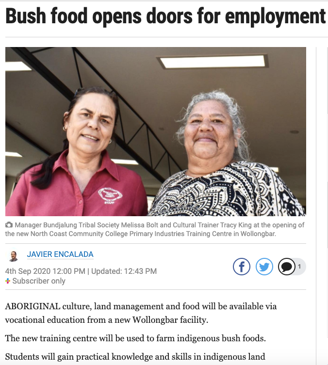 The Ballina Advocate - Bush Food opens doors for employment