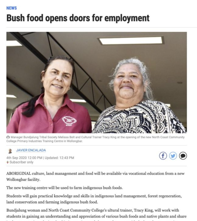 the Ballina Advocat - Bush Food opens dorrs for employment
