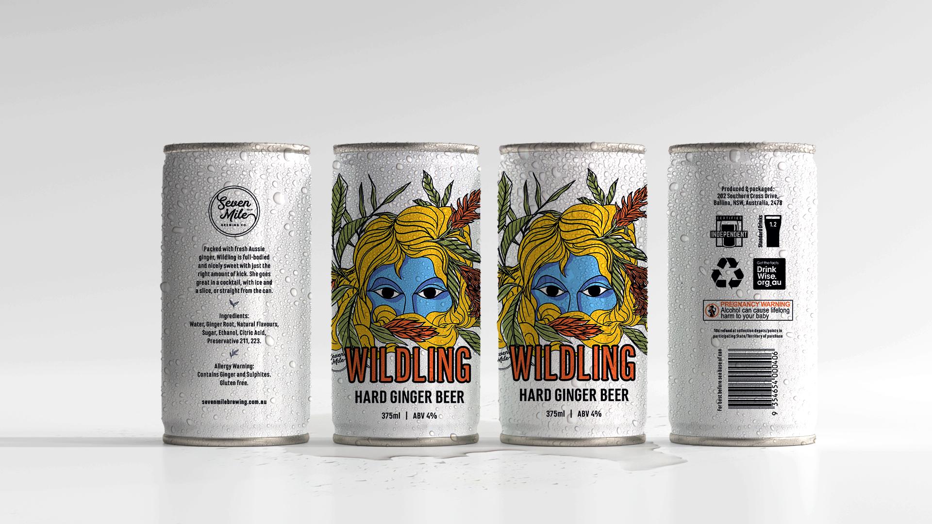 Wildling Ginger Beer Packaging